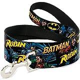 Buckle Down dl-6ft-wbm060-n schwarz Batman & Robin Pet Leine, 6Füße long-1/5,1cm breit