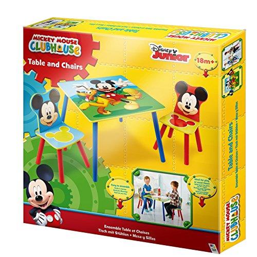 Mickey Mouse Sitzgruppe Tisch Kindersitzgruppe Spieltisch Kindertisch Set Micky Maus 527MKS (Mickey Mouse Tisch-set)
