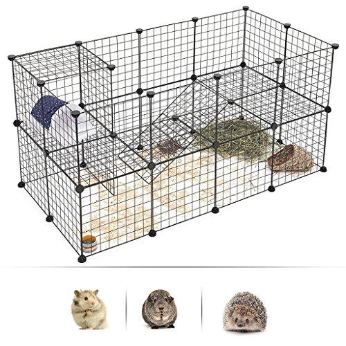 GLQ Small Pet Zaun Kleintierkäfig Outdoor Tür Tragbar Draht Zaun Pen Kaninchen Hund Animal Zaun Meerschweinchen Kaninchen Zaun (12x Metall Zaun) -