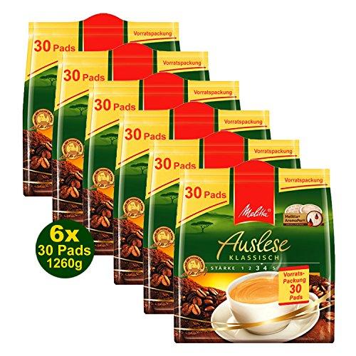 Melitta Auslese klassisch 30 Kaffeepads 210g Vorratspackung 6x 30 Pads á 210g (1260g)