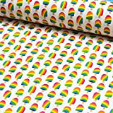 Stoff Beschichtete Baumwolle | Luna Eis am Stil | Stoff zum
