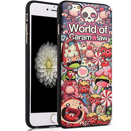 hyait® iPhone 6S Case, [Universe Galaxy] 3D Embossed Painting Series Protective Case Cover for iPhone 6/6S 4.7, rutschfest, Soft TPU Gel Case World of Caram law