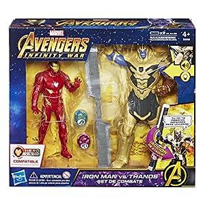 Marvel Avengers- Iron Man Vs. Thanos Set de Combate (Hasbro E0559105)