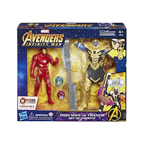 Marvel Avengers- Iron Man Vs. Thanos Set de Combate (Hasbro E0559105) 2
