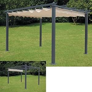 Pergola in alluminio per esterno cm 300x400 in poliestere