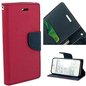 Aart Fancy Diary Card Wallet Flip Case Back Cover For Nokia 640 - (Pink) by Aart Store