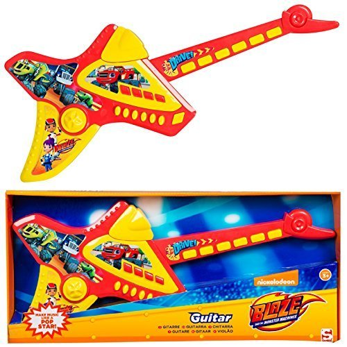 Blaze-And-The-Monster-Machines-Deluxe-Childrens-Kids-Electronic-Guitar-Musical-Instrument-Childs-Game-ToyP