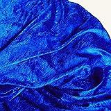 20m Pannesamt Deko-Stoff in Royal-Blau - 31 Farben zur