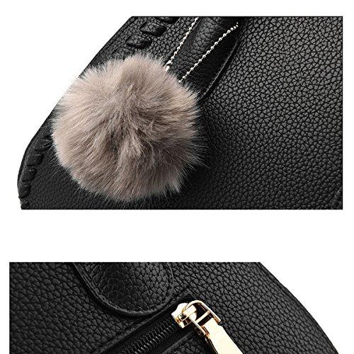 Frauen Faux-Leder-Aktenkoffer Messenger Bag Damen Handtaschen Multicolor Blue