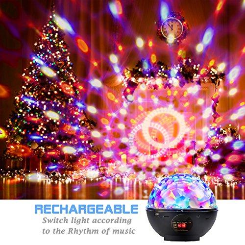 Besmall Tragbare Bluetooth Mp3 RGB LED Bühnenbeleuchtung USB-Stecker Lautsprecher Discokugel Mit Fernbedienung 2 in 1 Audiokabel