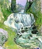 Das Museum Outlet–Wasserfall, 1895, gespannte Leinwand Galerie verpackt. 50,8x 71,1cm