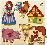 Selecta 62045 Bauernhof Holzpuzzle, 5 Teile
