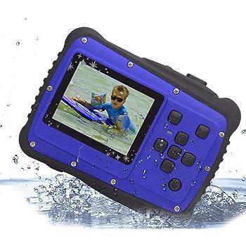 """Vmotal GDC5262 Fotocamera digitale impermeabile con zoom digitale 4x / 8MP / 2"""" Schermo LCD TFT/Camera impermeabile per bambini Regalo di Natale (Blu)"""
