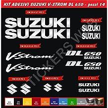 Adesivi stickers SUZUKI V-STROM DL650 VSTROM Kit 14 Pezzi -SCEGLI COLORE- moto motorbike Cod.0084 (Argento cod. 090)