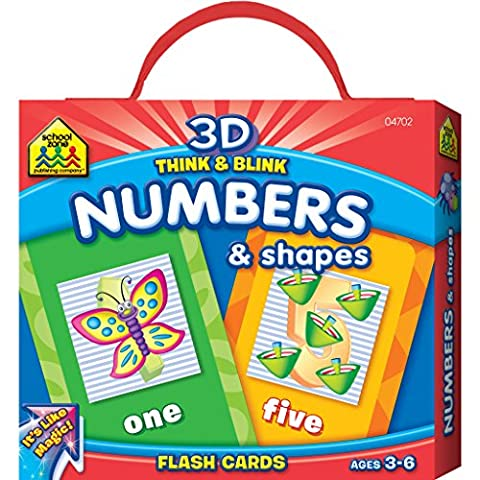 3D Think & Blink Numbers & Shapes Flash
