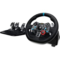 Logitech G29 Driving Force Gaming Rennlenkrad, Zweimotorig Force Feedback, 900° Lenkbereich, Racing Leder-Lenkrad…