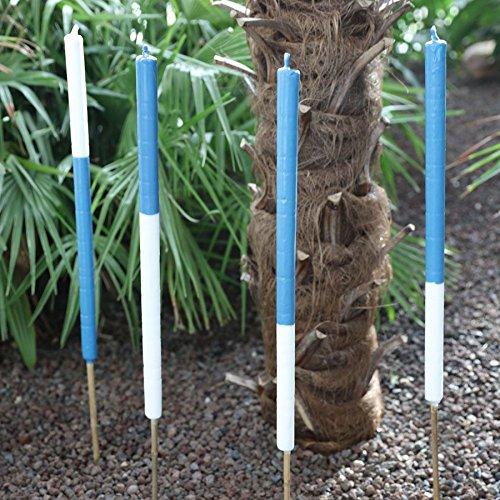 4er-Set Citronella Wachsfackeln 90cm Garten-Partyfackel Anti-Mücken Wachsfackel