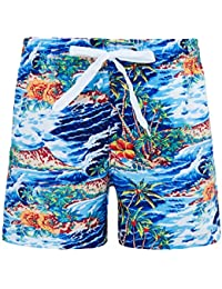 9752e925 Funnycokid Boys Swim Shorts 3D Printed Funny Swim Trunks Quick Dry  Beachwear Kids Board Trunks 3