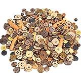 Youery 600 stuks houten knop, verschillende gemengde kleuren en maten voor naaien ambacht, delicate kokosnootknopen, doe-het-