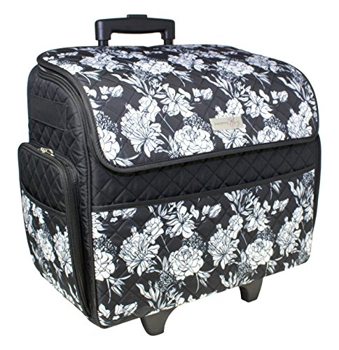 a96683bf92 Everything Mary Quilted Sewing Machine Rolling Tote-18-inch x 9-inch x