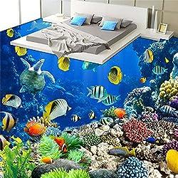 Mznm Custom Marine World Tropischen Bio im Badezimmer Badezimmer 3 D Wasserdicht Verdickung Verschleiß PVC Aufkleber