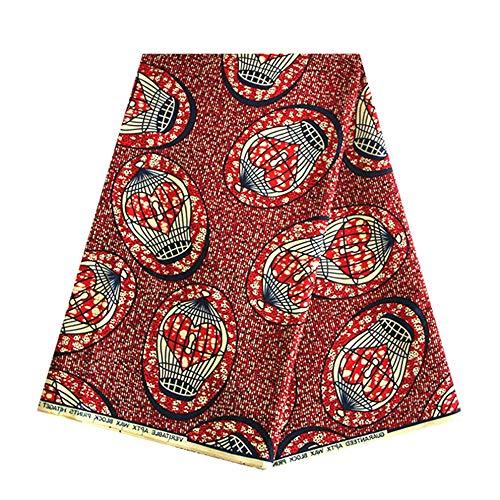 2018afrikanischen Wachs Stoff Material 100% Baumwolle Dashiki Gedruckt Echt Floral für Kleid Nigerianisches French bestickt Strass Guipure-Kordel Material Print Baumwolle Ankara l ()