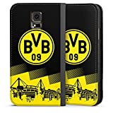 DeinDesign Samsung Galaxy S5 Leder Flip Case Tasche Hülle BVB Logo Borussia Dortmund