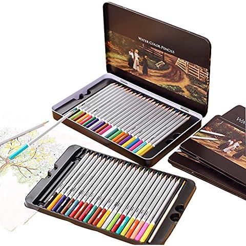 YIMOJI Set di matite colorate, disegno matite per schizzi, qualità professionale Soft Core Matite Acquerellabili, perfetto per libri da colorare giardino segreto per adulti o bambini 'regalo 72 Color