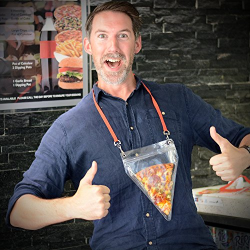 ZZA HOLDER Pouch And Lanyard - Ungewöhnliche Geschenk - Hält Große Pizza-Scheiben- Die ultimative Pizza Lovers Gadget (Lanyard Pouch)