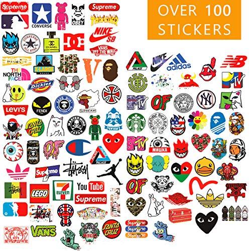 Supreme Vsco Aufkleber-Set, 101 Aufkleber für Laptop, Vinyl, Teenager-Sticker für Wasserflaschen, Hydroflaschen, Skateboard, Autos, Motorräder, Computer, iPhones