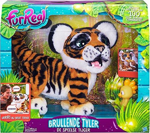 Hasbro B9071104 Juguete de Peluche Tigre Negro, Naranja, Blanco - Juguetes de Peluche (Tigre, Negro, Naranja, Blanco, 4 año(s), FurReal Friends, Tigre, 1,5 V)