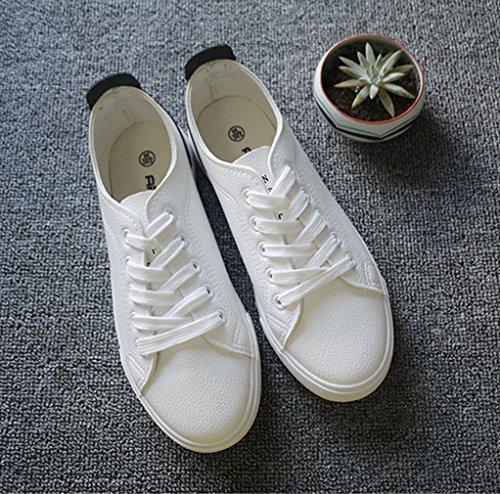 Damen Sneaker Canvas Atmungsaktiv Einfach Klassisch Rutschhemmend Sportlich Strapazierfähig Leicht Weich Bequem Modisch Schnürhalbschuhe Schwarz