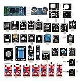 DSD TECH 39 PCS Sensoren und Module Kit mit HC-05 Bluetooth und HC-SR04 für Arduino UNO R3 Mega2560 Nano Himbeer Pi