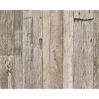 A.S. Creation 95931-2 Wood Effect Wallpaper, Roll Size: 10.05m x 0.53m