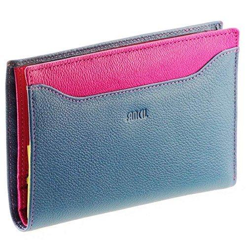 FANCIL - Portefeuille cuir Bleu Violet N1542 - Portefeuille femme