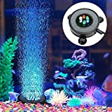 Eshen LED Aquarium Fish Tank Air Stone Light, Multi-Colored Air Bubble Stone Disk for Fish