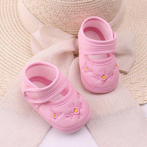 Babyschuhe,Amlaiworld Blumen gedruckten Kleinkind Schuhe rutschfest weiche Babyschuhe Rosa