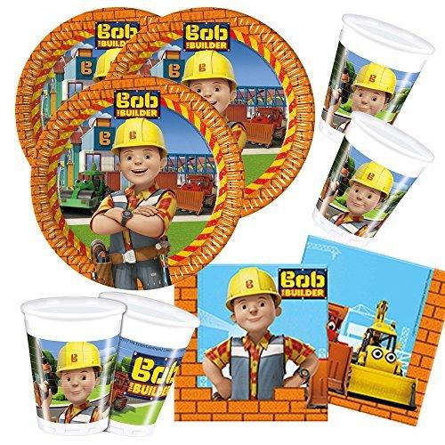 52-piezas juego de partido Bob el constructor - Plato Vaso Servilletas para 16 Niños