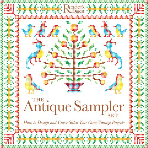 Set: How to Design and Cross-Stitch Your Own Vintage Projects (Antique Sampler)
