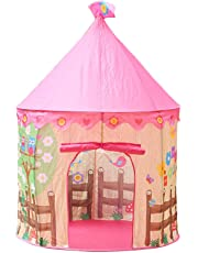 Webby DIY Princess Cubby Creations Flowers Birds Play Tent House, Pink