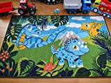 Kids Non Slip Machine Washable Dinosaurs Play Mat. Available in 3 Sizes (100cm x 160cm)