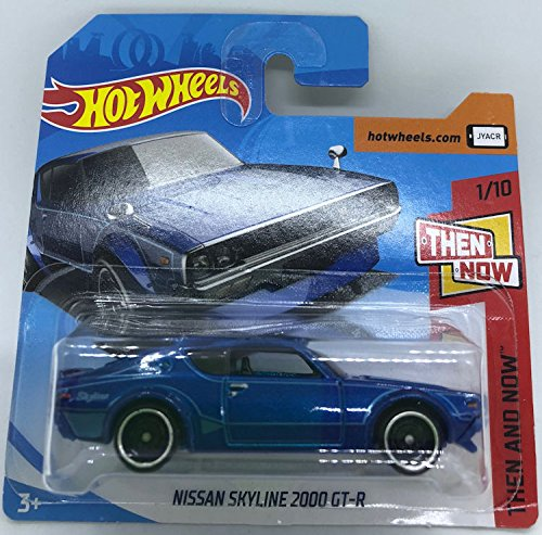Hot Wheels 2018 Nissan Skyline 2000 GT-R Blue 1/10 Then and Now 118/365 (Short Card)