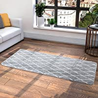 "Lifewit Machine Washable Rug Area Runner, Soft Carpet With Anti Slip Rubber Back for Bedroom, Living Room, Light Grey, 70"" x 25"" by Lifewit"
