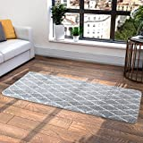 Lifewit Machine Washable Soft Thick Shag Area Rugs 80 x 160cm (2.6 x5.25 Feet) Fluffy Living Room Carpet Comfy Bedroom Runner Rugs Grey and White
