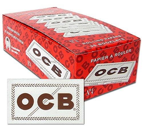 OCB 15432 kurzes Papier, Nummer 4, weiß