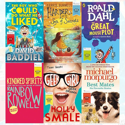 World Book Day Children Books Collection 6 Books Bundle (Best Mates, Geek Drama, Kindred Spirits, The Great Mouse Plot, Harper and the Sea of Secrets, The Boy Who Could Do What He Liked)