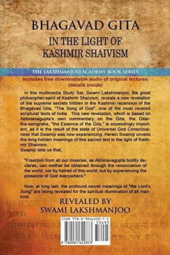 Bhagavad Gita: In the Light of Kashmir Shaivism (Lakshmanjoo Academy Book Series)