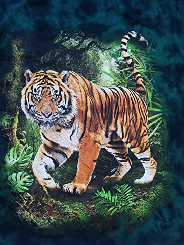 Tie Dye Bushfire T-shirt Dschungel Tiger grn Grn