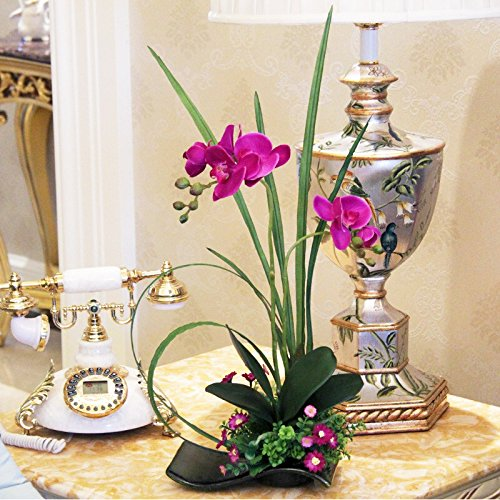 XHOPOS HOME Flores artificiales Alta calidad Ramos creativos orquídea Púrpura Decoraciones para el hogar Regalos para el Día de San Valentín