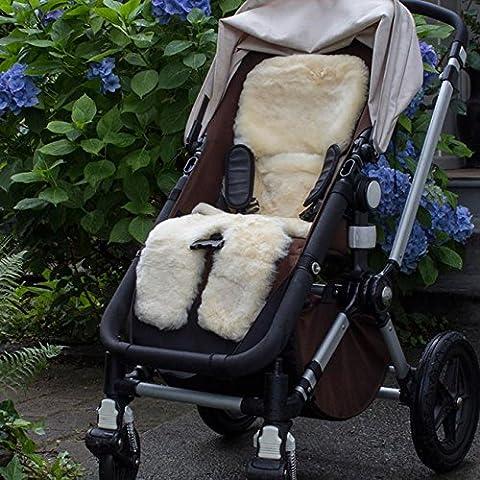 Bowron Infant Care Durable and Soft Shorn Lambskin Stroller Fleece